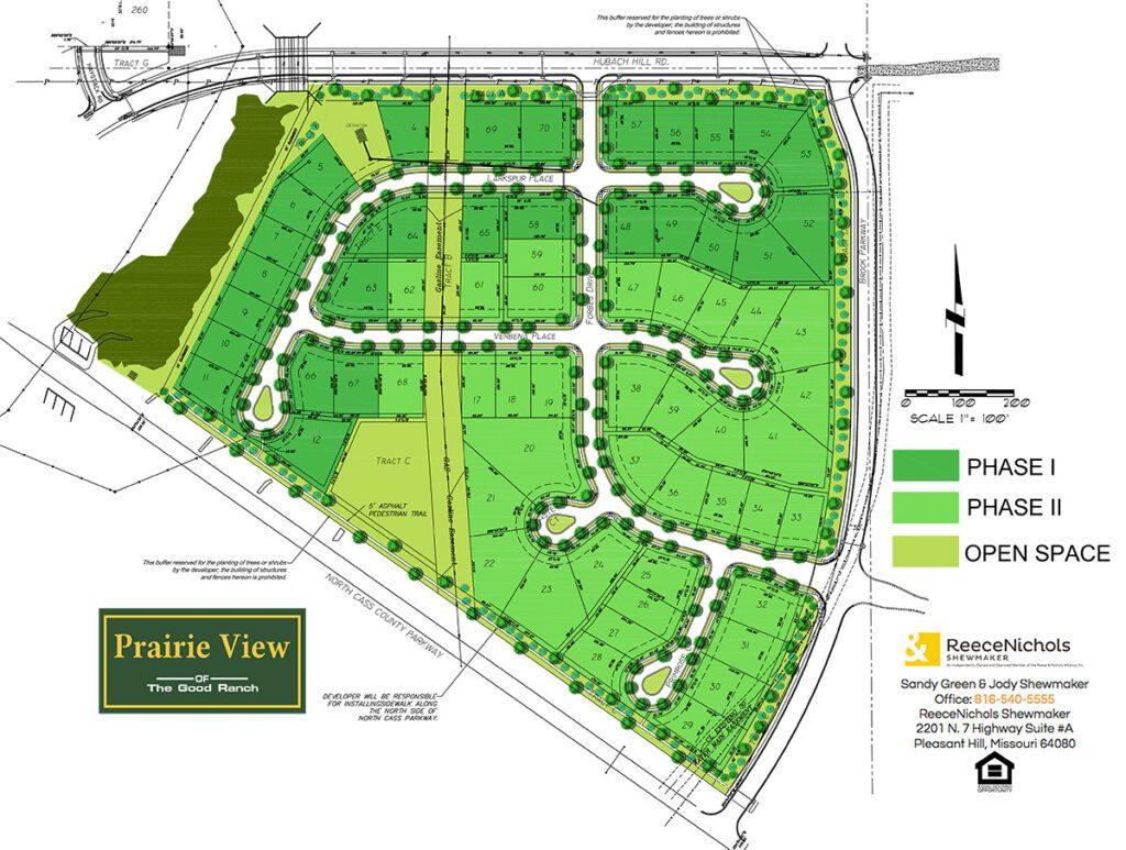 Prairie View Lot Map